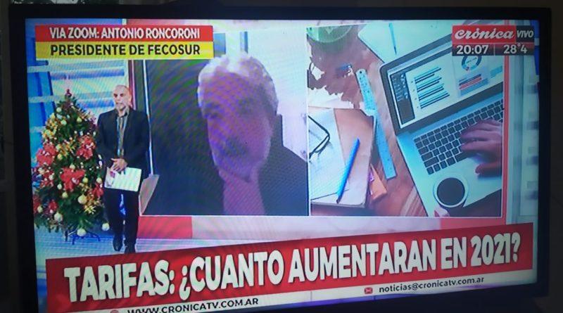 RONCORONI EN CRÓNICA TV